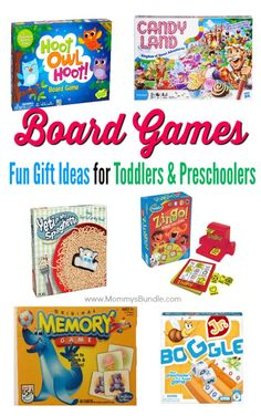 Fun age-appropriate board games for toddlers and preschoolers! Never leave the kids out of family game night with these board games that make a perfect gift idea for young kids.