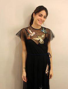 Quem visitou o salão a foi a atriz argentina Martina Stoessel, que interpretou Violetta Castillo, protagonista da telenovela Violetta, do Disney Channel.