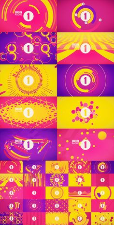 Animated loops for BBC Radio 1, to update their live event visual for use across a broad range of venues and artists performances.