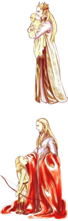 Thranduil and Leggy through the years.