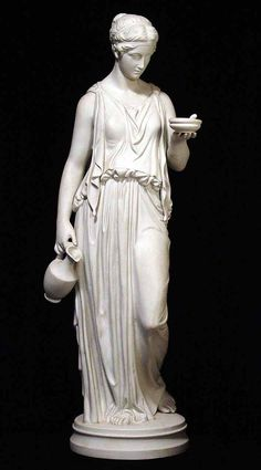 woman wearing chiton and carrying a jug
