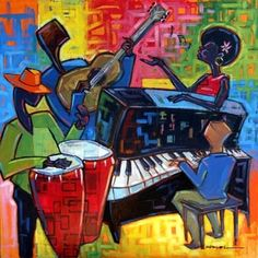 Rhythm : Bossa - Gentle Swinging with percussion One of hundreds of rhythms available with Song Rhythm Tracks. A swinging Latin Bossa recorded at 12 African American History Month, African American Artist, American Artists, Music Mood, Art Music, Piano Y Violin, Cuba Art, Latin American Music, Latino Art