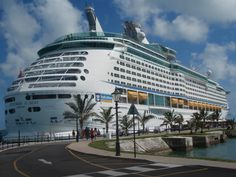 Royal Caribbean's Explorer of the Seas docked at Kings Wharf, Bermuda.