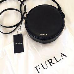 Furla Bags - Furla Perla Mini Round Cross Body Bag in Black on pinterest.com