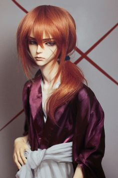 BJD doll- impressive! I love it when the artist bases a doll on a character...this is Kenchi from Ruruni Kenchi