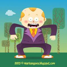 Vector Illustration by marisangoea on DeviantArt Caricature, Tweety, Deviantart, Cartoon, Comics, Drawings, Artist, Illustrations, Fictional Characters