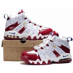 http://www.asneakers4u.com/ New Nike Air Max2 CB 94 Red/White Charles Barkley Shoes