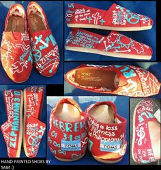 TOMS shoes painted. This is so cool!! Totally doing this! Also good way to spread the Word