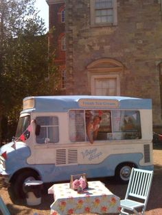 Vintage Scoops - ice-cream served in a renovated 1950's retro style Bedford Van, by the lovely Hayley...