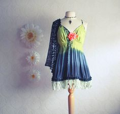 Upcycled clothing from BrokenGhostCouture on etsy