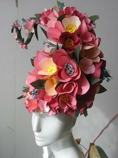 This origami flower headress is similar to one of the more than 55 wigs used in #Priscilla Queen of the Desert.