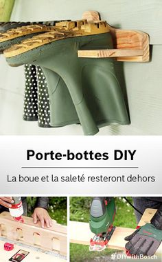 Do your kids love playing outdoors, come rain or shine? But unfortunately, their dirty boots can often end up making quite a mess in your hallway. So here& our solution: say goodbye to muddy footprints with our stylish DIY boot rack.