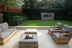 A showcase of Luciano Giubbilei Garden furniture Modern Garden Design, Contemporary Landscape, Landscape Design, Outdoor Rooms, Outdoor Gardens, Outdoor Living, Outdoor Decor, Modern Landscaping, Outdoor Landscaping