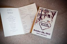 These wedding programs are so cute! Photo by Kim. #weddingphotographersMN #weddingprograms