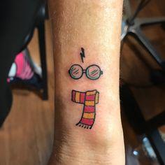 Glass of Harry Potter #wristtattoo #harrypottertattoomeaning #harrypottertattoo