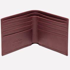 Ettinger London - Luxury Leather Goods - Saira Hunjan X Ettinger Billfold Wallet with 6 C/C in Oxblood