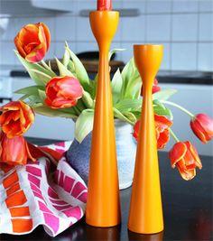 FREEMOVER Rolf™ Candlesticks in Orange, Medium and Small. Photo: @LenaOrange