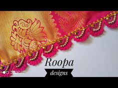 Awesome double shade sea shell Saree kuchu/crochet design/in ಕನ್ನಡ/Roopa Designs,🐚 Saree Kuchu New Designs, Latest Salwar Kameez Designs, Saree Tassels Designs, Wedding Saree Blouse Designs, Fancy Blouse Designs, Bead Crochet, Crochet Motif, Crochet Designs, Half Saree Lehenga