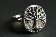 Tree of Life Ring. Tree Ring. Pewter Ring. by StumblingOnSainthood