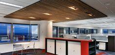 supatile slat ceiling tiles in natural timber