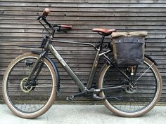 Image of Motorbike bag / motorcycle bag / bicycle bag / pannier in waxed canvas /
