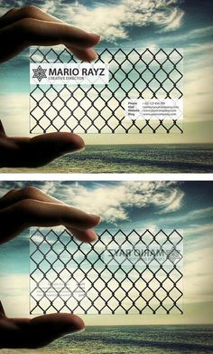 Steel Fence Transparent Business Card