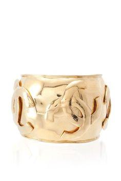 Chanel CC Gold Cuff