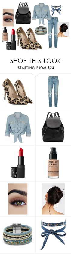 """моно"" by eiren-1 on Polyvore featuring мода, Levi's, ZAK, Witchery, NARS Cosmetics, MAKE UP FOR EVER, Free People, Design Lab и Chan Luu"