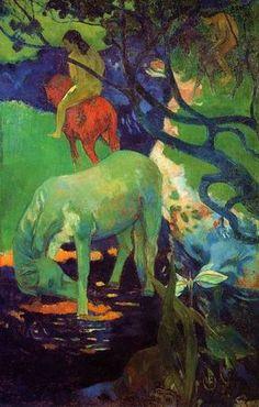 The White Horse   Paul Gauguin