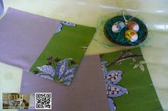 Placemat Spring size 17in. x 11in. cottonlinentable decor by Emurs