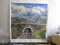 T 1, 180x180cm, acrylique sur toile.