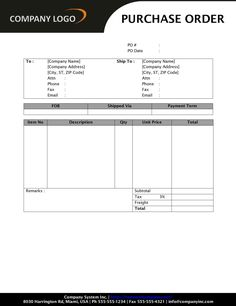 Download a free Purchase Order template for Excel - a simple way ...