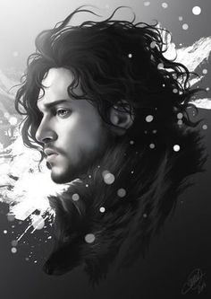 Daenerys Targaryen and Jon Snow - Created by Nicolas Jamonneau Available for sale at his Society6 Shop.