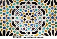 spanish tile: Typical Andalusian mosaic, very colorful, geometric motifs Arab cultural origin Andalusia, Spain Granada, Islamic Tiles, Islamic Art, Islamic Patterns, Tile Patterns, Motif Oriental, Spain Images, Geometric Tiles, Spanish Tile