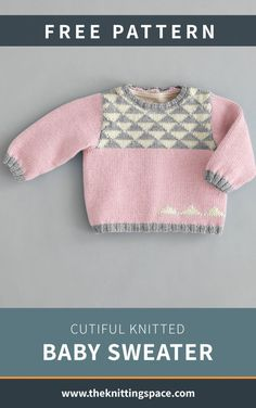 Protect your little one from the cold with this cutiful knitted baby sweater. The FREE . Baby Knitting Patterns Free Newborn, Kids Knitting Patterns, Baby Sweater Patterns, Jumper Knitting Pattern, Knit Baby Sweaters, Free Knitting, Baby Knits, Knitted Baby, Crochet Baby