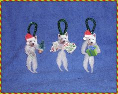 Vintage Style Chenille Christmas Ornaments
