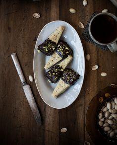 Local Milk | Chocolate-Dipped Pistachio Shortbread