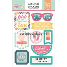 Echo Park Summer Dreams - Layered Stickers