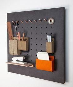 Wandpaneel für das Büro, praktischer Helfer für das Arbeitszimmer / perfect for your workplace: office wall organizer made by mairaum via DaWanda.com
