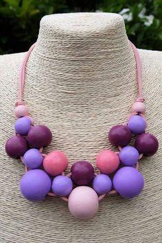 Pienk Scarf Jewelry, Bead Jewellery, Fabric Jewelry, Wire Jewelry, Jewelry Crafts, Beaded Jewelry, Jewelery, Handmade Jewelry, Summer Necklace