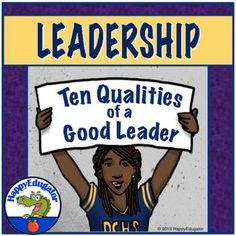 Leadership PowerPoint - Ten Qualities of a Good Leader Presentation and Activity Life Coach Training, Leadership Coaching, Leadership Development, Presentation Skills, Writing Assignments, Back To School Activities, Beginning Of The School Year, Character Education, Public Speaking