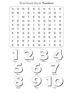 Puzzles For Kids Number Worksheets English Activities For Kids, English Worksheets For Kids, English Lessons For Kids, Kids English, School Worksheets, English Words, Learn English, Spanish Lessons, Learn French