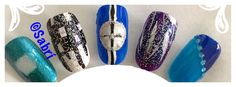 My new #naildesigns: #geometric #popart #glitter #blue #black #bling #nailart. #Nails #Uñas #Unghie #Ongles #Unhas #Nailpolish #Esmalte #Smalto #Émail. #Beauty #Belleza #Bellezza #Beauté #Beleza #Cosmetics #Cosméticos #Cosmetici #fabat40.