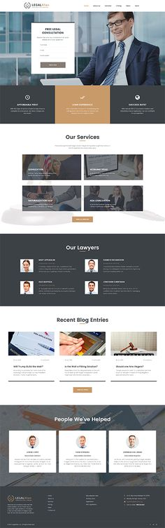 Business website inspirations at your coffee break? Browse for more WordPress #templates! // Regular price: $75 // Sources available:.PHP, This theme is widgetized #Business #WordPress  #work #articles #business #experience #biography #testimonials #rules #practice #lawyer #agency #constitution #case #affair #membership #responsibility #law #hobbies