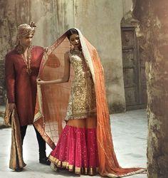 Majestic Bridal Collection 2016 by Lajwanti  That pink sharara!  #pink#sharara#bridal#bride#groom#asian#pakistani#pakistanvogue