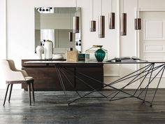 Mesa rectangular de cristal GORDON by Cattelan Italia diseño Giorgio Cattelan