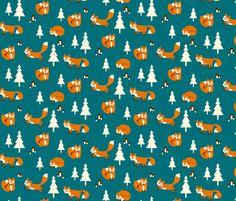 jumpy_foxes fabric by kaeselotti on Spoonflower - custom fabric