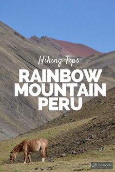 A Rainbow Fell to Earth – Hiking Rainbow Mountain Peru - a reputedly…