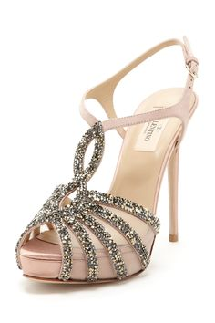 Valentino Beaded Mesh Sandal <3 I need somewhere to wear these so I have a reason to buy them. So cute!
