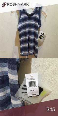 NWT Norma Kamali Everlast Blue Stripe M L $88 NWT Norma Kamali Everlast Blue Stripe M L $88 Norma Kamali Tops